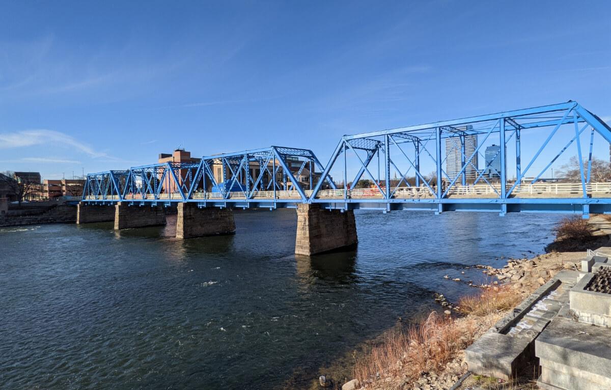 A bridge over the Grand River.
